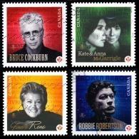 Canada (Scott No.2483a-d - Chanteurs (ses) Canadien /Canadian Recording Artists) (o) Série / Set - 1952-.... Règne D'Elizabeth II