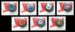 Canada (Scott No.2662-68 - Ligue Nationale De Hockey / 7 / National Hockey League) (o) - 1952-.... Règne D'Elizabeth II