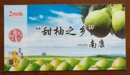 Fruit,CN 06 Nankang Hometown Of Chinese Sweet Grapefruit Advert Pre-stamped Card,specimen Overprinted - Frutas