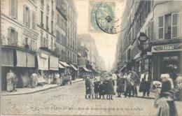 CPA Paris 15e Arr Rue Du Commerce Prise De La Rue Letellier - Arrondissement: 15