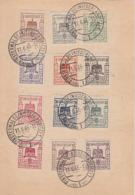 SBZ Finsterwalde Karte Minr.1-12 Finsterwalde 11.6.46 Gel. Nach Riesa - Zone Soviétique