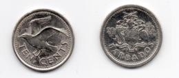 10 Cents – Barbade – 2012 – Nickel Acier – Etat TTB – KM 12a - Barbados