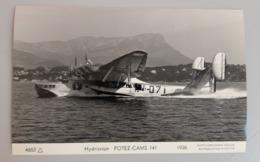 Carte Photo Marius Bar Hydravion Potez Cams 141 - Aviation