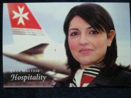 Air Malta True Maltese Hospitality , Airline Issued Card - 1946-....: Era Moderna