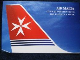Air Malta Tail , Airline Issued Card - 1946-....: Era Moderna