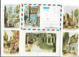 Le Caire Cairo Envelppe Illustrée Non Postée Illustrateur Oveb Carter Fountain 1840  Mosque,minarets ..aérogramme. - Le Caire