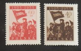 POLOGNE YT 837/838 NEUF* ANNÉE 1955 - Nuovi