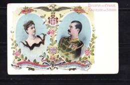 POSTCARD-SERBIA-RIENE-QUEEN-SERBIE-ROY-KING-SERBIE-SEE-SCAN - Serbia