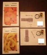 2 Special Postcard FRUITS DU LIBAN Orange & Banana Sent From France To Lebanon 2019 - Lebanon