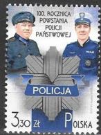 POLAND, 2019, MNH, POLICE, 100th ANNIVERSARY SINCE THE ESTABLISHMENT OF STATE POLICE, 1v - Police - Gendarmerie