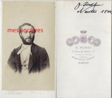CDV En 1864-Portrait De J. PIEDLEU- Photo Furst-maison Séchez-Desbois à Nantes - Anciennes (Av. 1900)