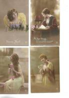 Lot De 4 CPA / Jeune Femme / Editeur DIX N°233, 106,62,331 / Noel, Absence... - Women