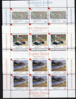 Croatia 2007 / Art / Croatian Modern Painting / Senoa, Benkovic, Kulmer / MINT Stamps Small Sheets - Croazia