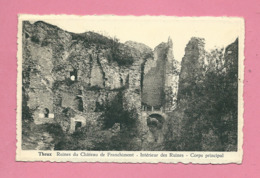 C.P. Theux = FRANCHIMONT : Ruines  Du Château  : Intérieur Des  Ruines : Corps  Principal - Theux