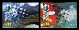 United Nations (New York) 2019 Mih. 1718/19 Climate Change. Mountains. Fauna. Fishes MNH ** - New York -  VN Hauptquartier