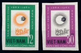 Vietnam, 1964, Year Of The Sun, 2 Stamps Imperforated - Ruimtevaart