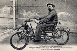 TARJETA POSTAL CIRCULADA , MOTOCICLETA , MOTOS , MOTOR , MOTORCYCLE , MOTORRAD , TRICICLOS PARA MINUSVALIDOS - Motorräder