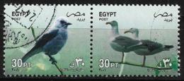 Egypte - 2001 - Série Courante - Oiseaux  -  Y&T #1715/1718 ( 2 Val )  - Oblitéré - Gomme Intacte - Oblitérés