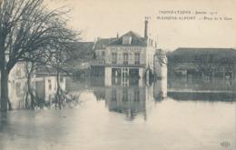 94) MAISONS-ALFORT : Inondations De 1910 - Place De La Gare - Maisons Alfort