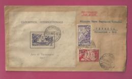 Lettre De 1938 Pour L'Italie - YT N° 141, 145, 98, 136 Et BF1 RR Sur Lettre - Exposition Internationale De Paris - Costa Francesa De Somalia (1894-1967)