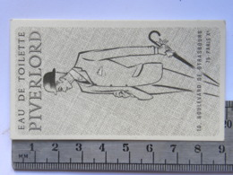 Carte Parfumée Parfum - Eau De Toilette Piverlord - 10 Bld De Strasbourd - Paris X - Perfume Cards