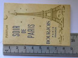 Carte Parfumée Parfum - BOURJOIS Paris France - SOIR DE PARIS - Perfume Cards