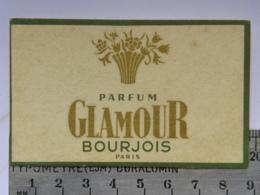 Carte Parfumée Parfum - Parfum GLAMOUR - BOURJOIS PARIS - Perfume Cards