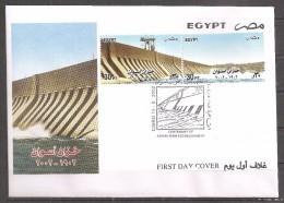 Egypte - 2002 - Enveloppe 1e Jour - Centenaire Du Barrage D'Assouan -  Y&T #1737-1738 - Égypte