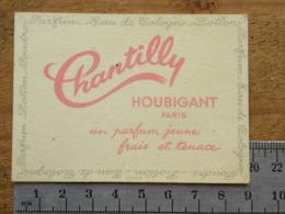 Carte Parfumée Parfum - CHANTILLY - HOUBIGANT PARIS - Perfume Cards