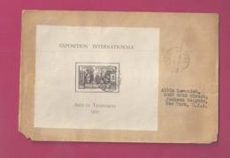 Lettre De 1939 Pour Les EUAN - YT N° BF1 RR Sur Lettre - Exposition Internationale Arts Et Techniques - Guinea Francesa (1892-1944)