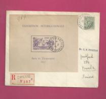 Lettre Recommandée De 1938 Pour La Suisse - YT N° BF1 RR Sur Lettre - Exposition Internationale Arts Et Techniques - Guayana Francesa (1886-1949)