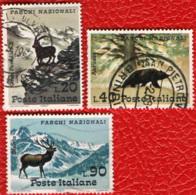 ITALIA - 1967 - SERIE PARCHI NAZIONALI ITALIANI - USATI - 1961-70: Oblitérés