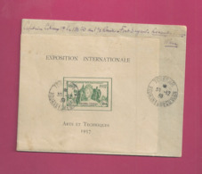 Lettre Locale  De 1939 - YT N° BF1 RR Sur Lettre - Exposition Internationale Arts Et Techniques - Kouang-Tcheou (1906-1945)