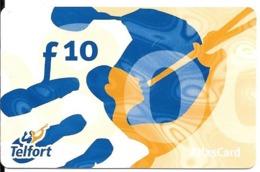 CARTE-PREPAYEE-SUEDE-TELFORT-TLASCARD-10U-Plastic Epais--TBE-RARE - Schweden