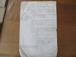 LOUVIGNIES LEZ BAVAY LE 3 NOVEMBRE 1839 LES MEMBRES DU BUREAU DE BIENFAISANCE SOUS LA PRESIDENCE DE M.ROBEAU MAIRE COMPT - Manuscrits