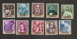 España 1961 Used El Greco Completa - 1961-70 Usados
