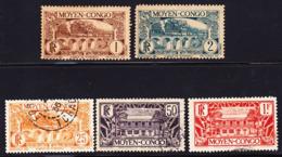 Moyen Congo 1933 Petit Lot De La Série Courante Neuf Avec Ch. * Et Oblitéré O - Französisch-Kongo (1891-1960)