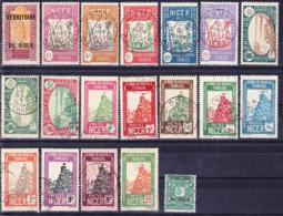 Niger 1921-1938 Lot De Timbres Courants Oblitérés O, Incluant Yv. 45, 45A, 46, 46A - Niger (1921-1944)