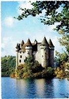CPM FRANCE 15 CANTAL LANOBRE - Château De Val - Sur Le Lac Du Barrage De Bort - 1970 - Otros Municipios