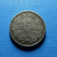 South Africa 6 Pence 1894 Silver - Südafrika