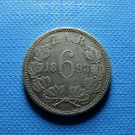 South Africa 6 Pence 1893 Silver - Südafrika