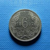 South Africa 6 Pence 1897 Silver - Südafrika