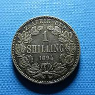 South Africa 1 Shilling 1894 Silver - Sudáfrica