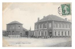 (24943-62) Carvin - Place De La Gare - Frankrijk