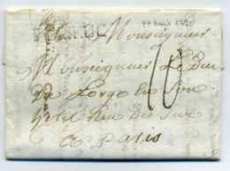 Lettre De SAINT BRIEUX  (SBRIEUC) Lenain N°5 / Dept 21 Côtes Du Nord / 1775 / Cachet De Cire Au Verso - Marcophilie (Lettres)