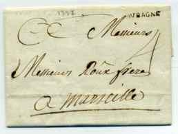 Lettre D'AUBAGNE / Dept 12 Bouches Du Rhône / 1777 - Marcophilie (Lettres)