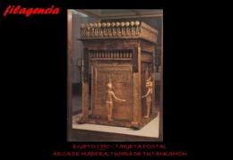 TRASTERO. EGIPTO. TARJETAS POSTALES. TARJETA POSTAL 1990. ARCA DE MADERA. TUMBA DE TUTANKAMÓN - Museos