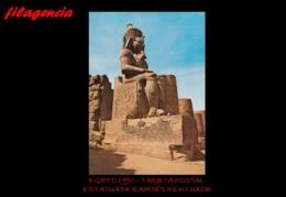 TRASTERO. EGIPTO. TARJETAS POSTALES. TARJETA POSTAL 1990. ESTATUA DE RAMSÉS II EN LUXOR - Luxor