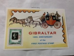 Gibraltar First Postage Stamp S/s Mnh 1990 - Gibraltar