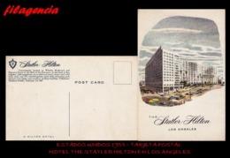 TRASTERO. ESTADOS UNIDOS. TARJETAS POSTALES. TARJETA POSTAL 1955. HOTEL THE STATLER HILTON EN LOS ÁNGELES - Los Angeles